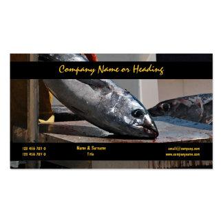 PERSONALIZAR del atún del puerto de la pesca profe Plantillas De Tarjetas Personales