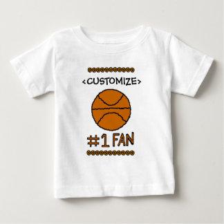 Personalizar del baloncesto de la fan #1 él tee shirts