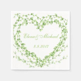 Personalizar del boda de la guirnalda de las hojas servilletas de papel