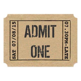 Personalizar del boleto de la demostración del invitación 12,7 x 17,8 cm