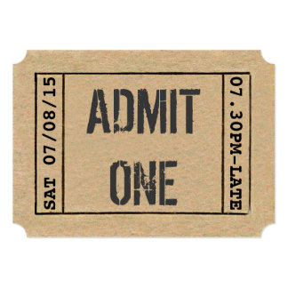 """Personalizar del boleto de la demostración del invitación 5"""" x 7"""""""