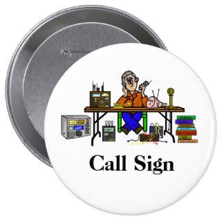 ¡Personalizar del botón de equipo de Pin Redondo De 4 Pulgadas