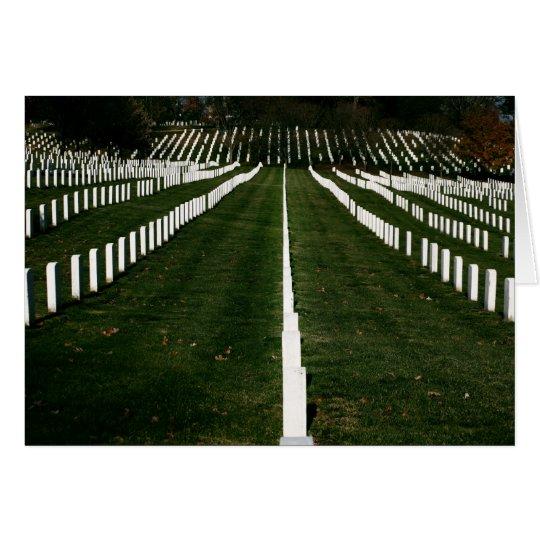 Personalizar del cementerio nacional de Arlington Tarjeta De Felicitación