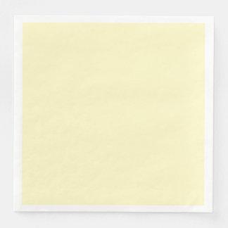 Personalizar del color sólido de la gasa del limón servilleta desechable