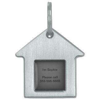 Personalizar del color sólido del gris de carbón placa mascota