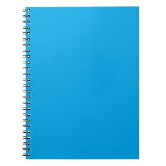 Personalizar del fondo del color del azul de cielo libretas espirales