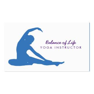 Personalizar del instructor de la yoga sus colores tarjetas de visita