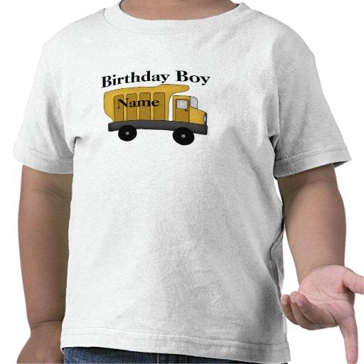 Personalizar del muchacho del cumpleaños él camisetas