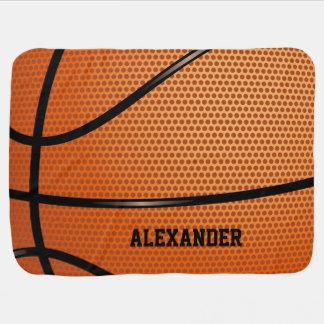 Personalizar del nombre del modelo del baloncesto mantita para bebé