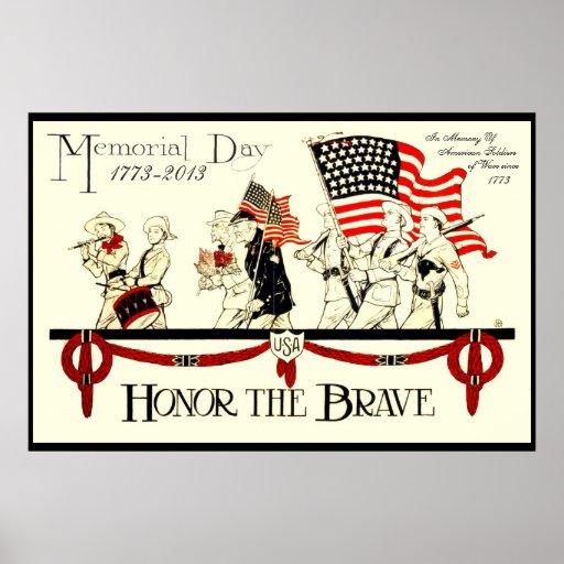 PERSONALIZAR del poster del Memorial Day del vinta