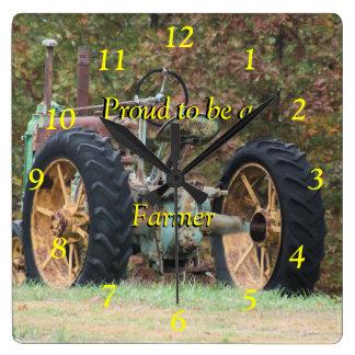Personalizar del reloj del tractor de granja del v