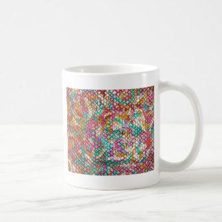 Personalizar del rosa del verde de las lentejuelas taza de café
