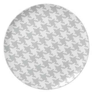 Personalizar del tecleo él gris del cambio a su plato de comida