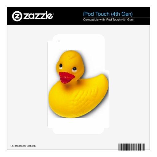 Personalizar Ducky de goma iPod Touch 4G Calcomanía