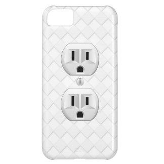 Personalizar eléctrico de la diversión del enchufe funda para iPhone 5C