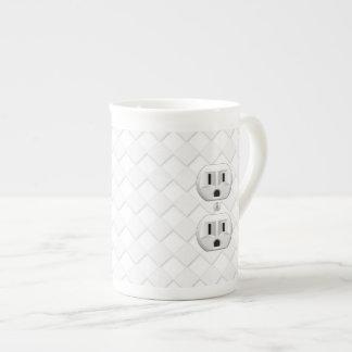 Personalizar eléctrico de la diversión del enchufe taza de porcelana