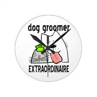 Personalizar Extraordinaire del Groomer del perro Relojes De Pared
