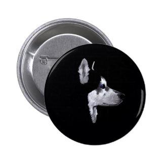 Personalizar fornido de Alaska del perfil del perr Pins
