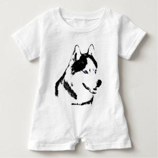 Personalizar fornido del mameluco del husky