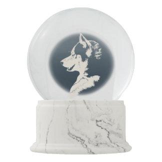 Personalizar fornido fornido Snowglobe del perrito Bola De Nieve
