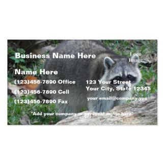 (Personalizar) foto peluda del mapache Tarjetas De Visita
