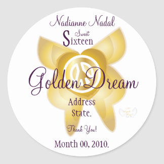 Personalizar ideal de oro de la etiqueta engomada
