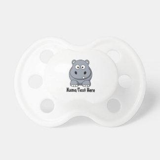 Personalizar lindo del hipopótamo del bebé chupetes para bebés