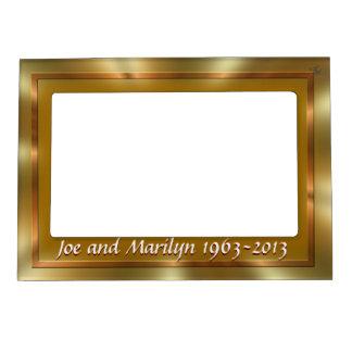 Personalizar magnético de oro del capítulo marcos magneticos de fotos