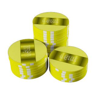 Personalizar metálico amarillo de la tira