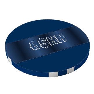Personalizar metálico azul de la tira