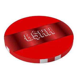 Personalizar metálico rojo de la tira