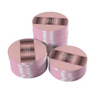 Personalizar metálico rosado de la tira