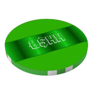 Personalizar metálico verde de la tira