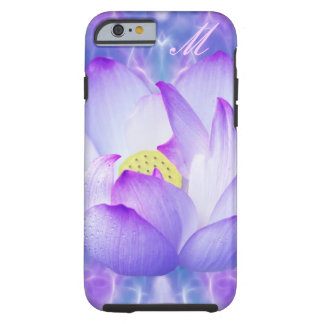 Personalizar púrpura de la flor de loto funda de iPhone 6 tough