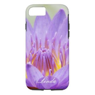 Personalizar púrpura de la flor de loto funda iPhone 7