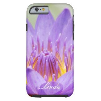 Personalizar púrpura de la flor de loto funda resistente iPhone 6