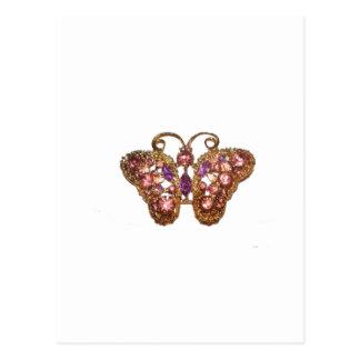 Personalizar púrpura del rosa de la mariposa de la postal