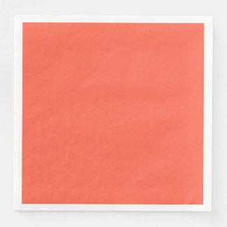 Personalizar rojo del color sólido del tomate él servilleta desechable
