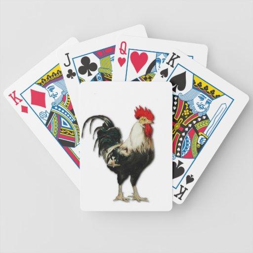 Personalizar rojo del pollo del gallo barajas de cartas
