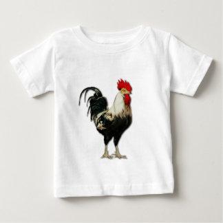 Personalizar rojo del pollo del gallo playera de bebé