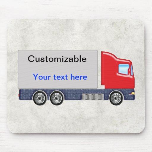 Personalizar rojo y gris del camión de reparto alfombrilla de raton