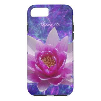 Personalizar rosado de la flor de loto funda iPhone 7