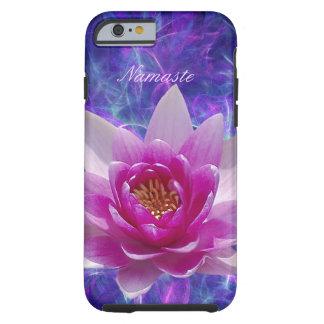 Personalizar rosado de la flor de loto funda resistente iPhone 6
