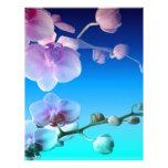 Personalizar rosado de la vid del cielo azul de la plantilla de membrete