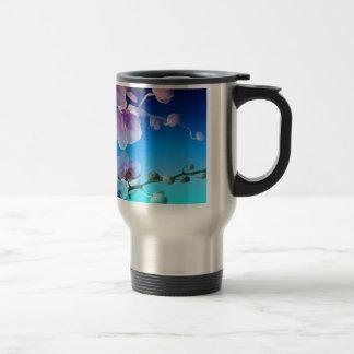 Personalizar rosado de la vid del cielo azul de la taza