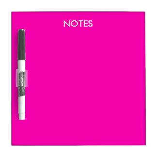 Personalizar rosado de neón del color sólido él tablero blanco