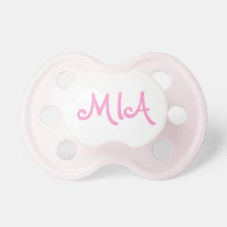 Personalizar rosado del pacificador de Mia capaz Chupetes