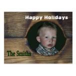 Personalizar rústico de la postal del navidad