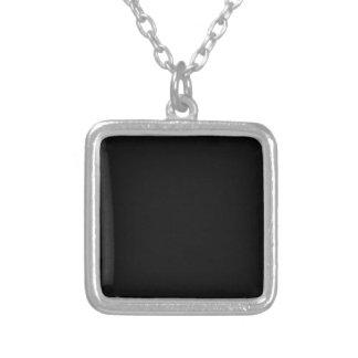 Personalizar simplemente negro del color sólido él collar plateado