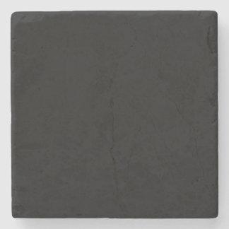 Personalizar simplemente negro del color sólido él posavasos de piedra